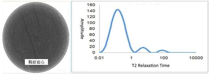 岩心樣本 T2 馳豫時間分析
